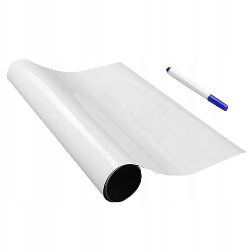 1 sztuka tablica naklejka ścienna - 60x200cm białe