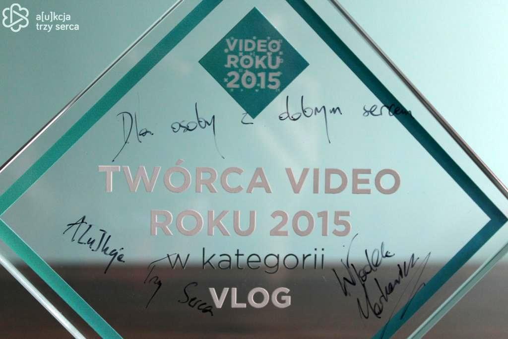Włodek Markowicz –statuetka TWÓRCA VIDEO ROKU 2015