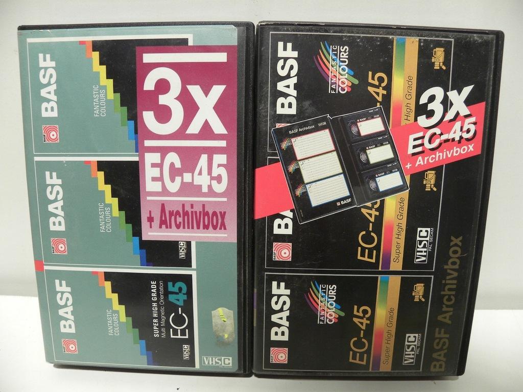 5 KASET VHS C SUPERTAPE BASF EC-45 EMTEK