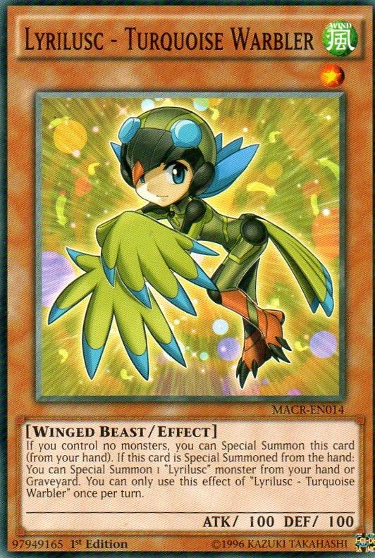 Karta YU-GI-OH - Lyrilusc - Turquoise Warbler