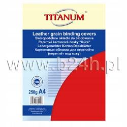 Karton do bindowania Titanum skóropodobny A4 czerw