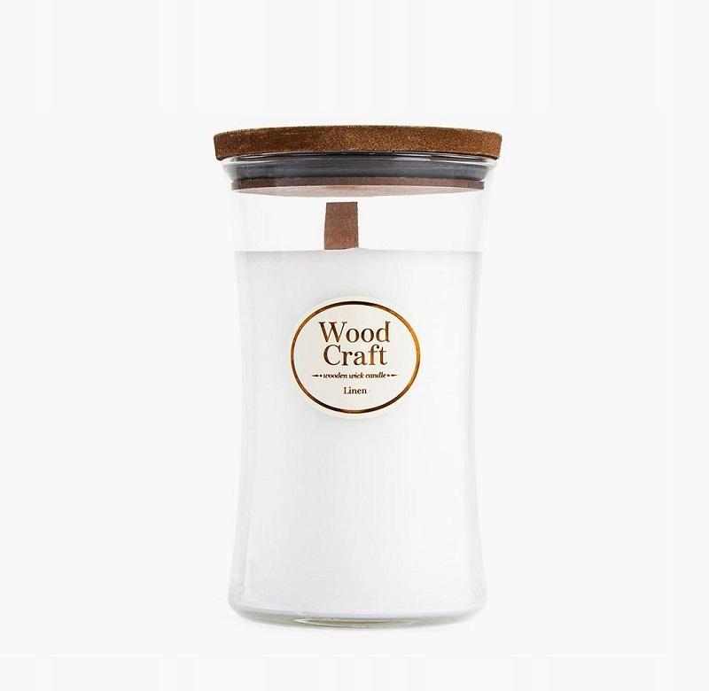 Woodcraft Linen Świeczka Zapachowa 595g