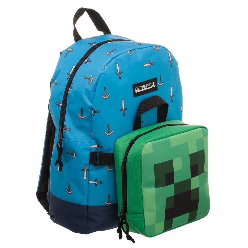 Plecak Minecraft 47cm z odczepianą śniadaniówką
