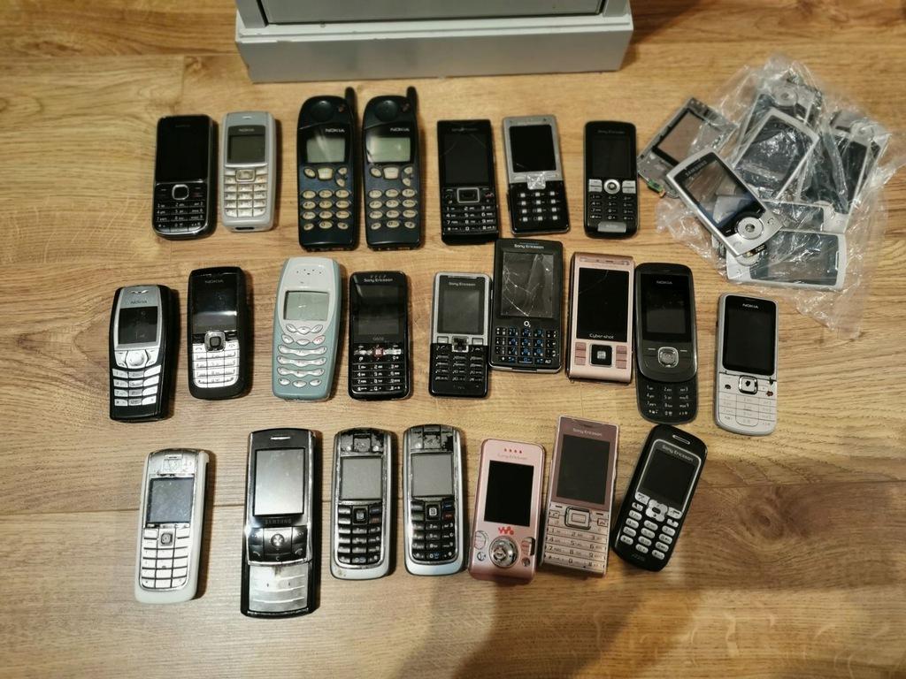 Zestaw telefonów komórkowych - SE, NOKIA