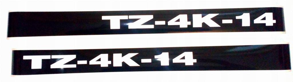 Naklejki napisy TZ 4K-14 komplet czeski