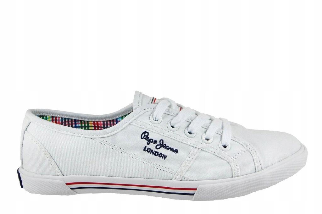 Trampki Pepe Jeans - PLS30500 biały 40