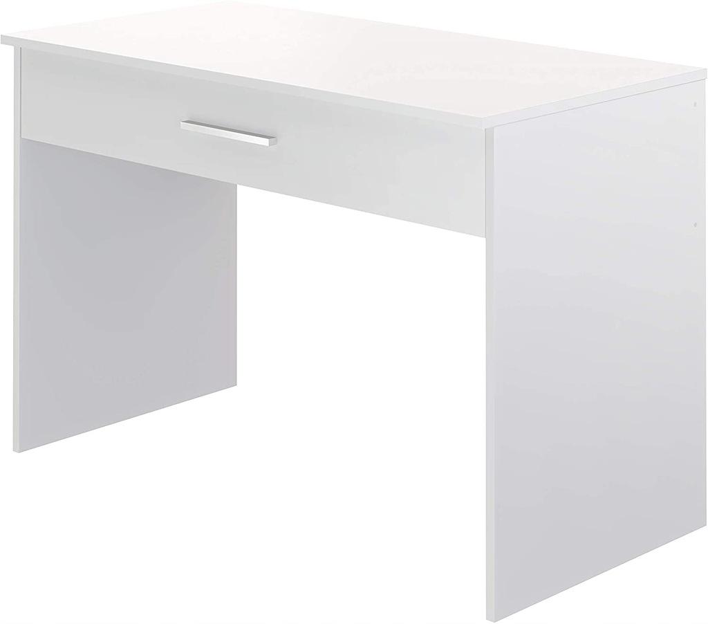 NA7 Białe biurko z szufladą Movian 56x110x73 cm
