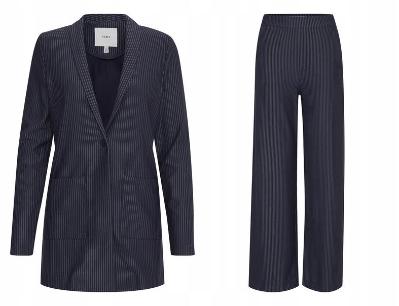ICHI IHRUTI Komplet w paski żakiet i spodnie [S]