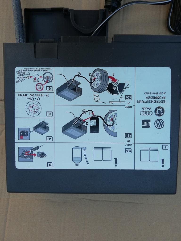 Kompresor do pompowania kół :Audi, VW, BMW, Skoda,