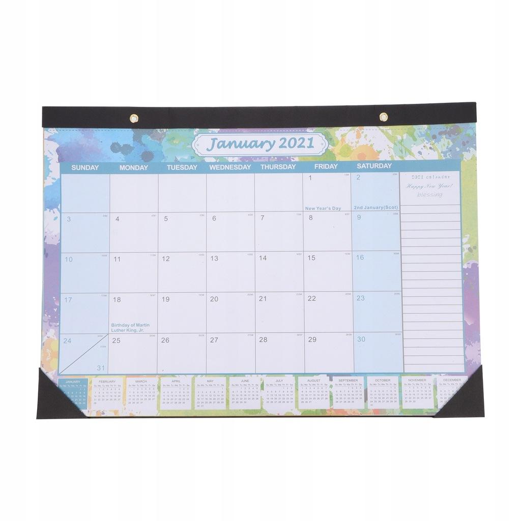 Kalendarz biurkowy 2021 Kalendarz stołowy Kalendar