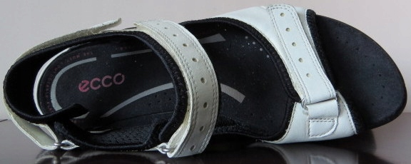 Ecco Sandały 3-Punkt.Regulacja 2xSkóra R.41/27cm