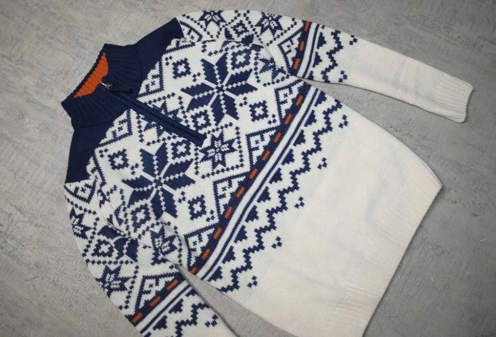 Sweter norweski jak nowy | welna | nie Tommy