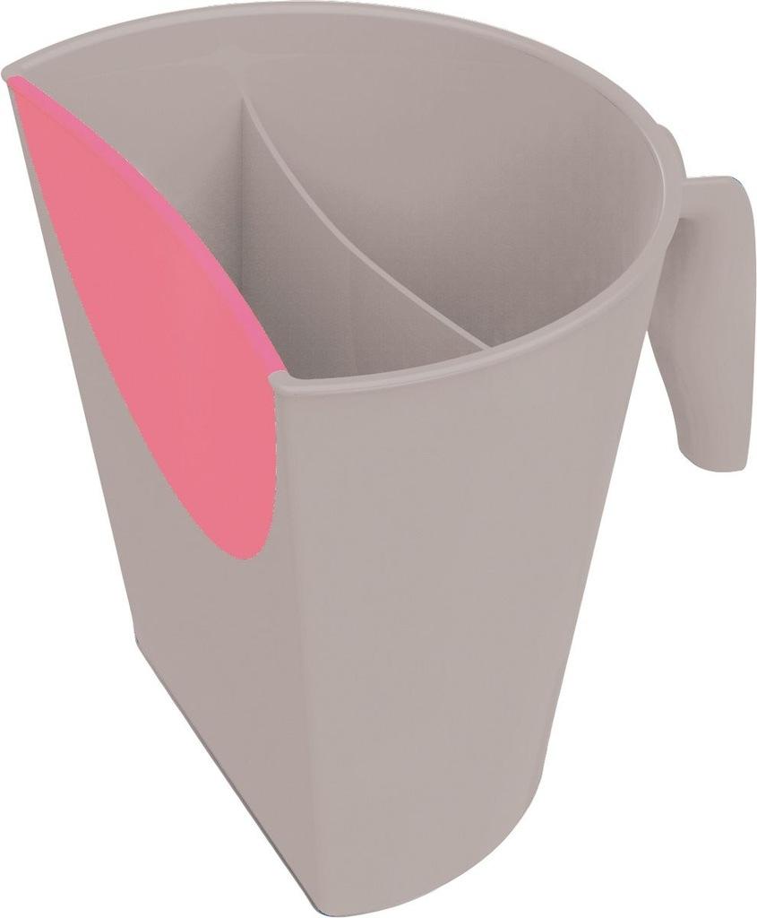 BabyOno Kubek do mycia głowy szaro-różowy