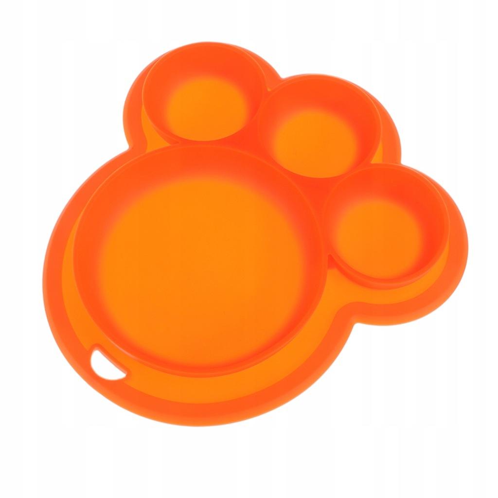 Silikonowy podzielony talerz na żywność Niedźwiedź