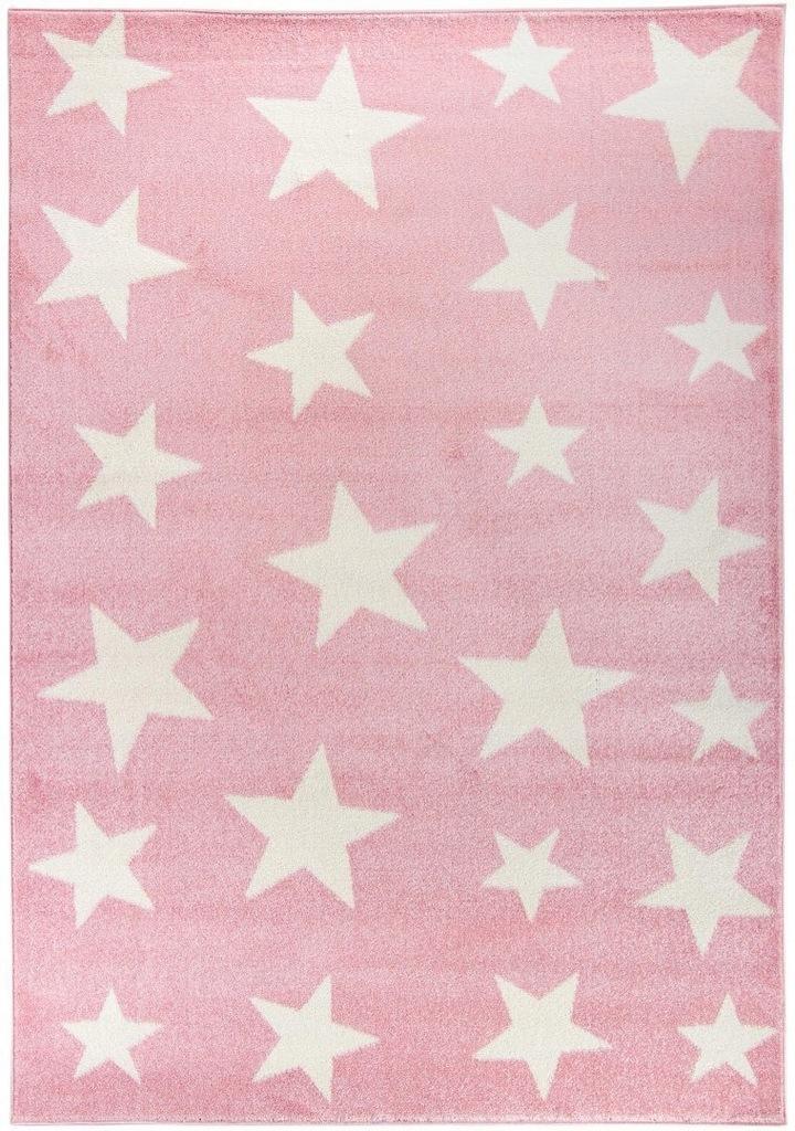 Dywan pokój dziecięcy białe gwiazdki 140x200_CARPE