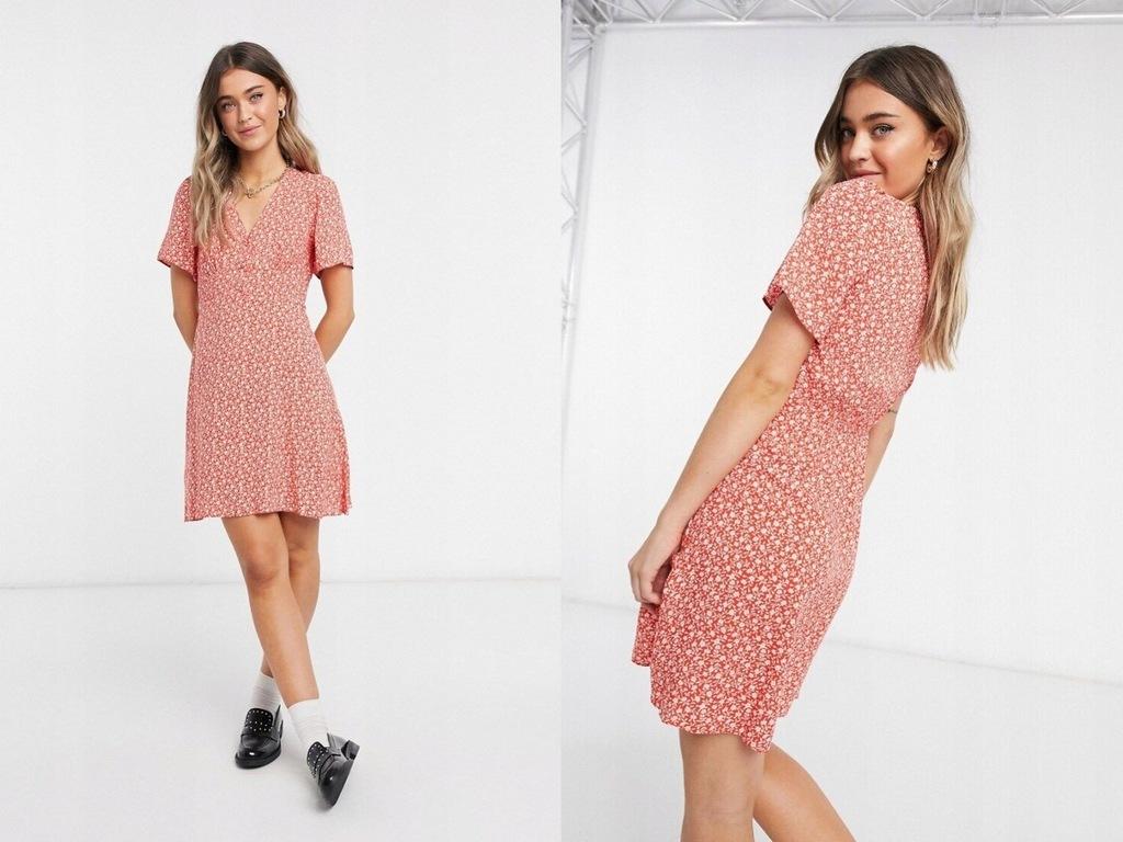 New Look Kwiecista mini sukienka traezowa XS/34