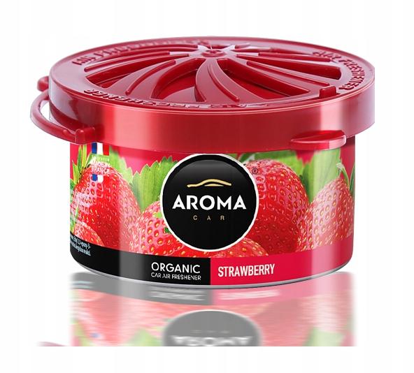 Zapach samochodowy ORGANIC AromaCar STRAWBERRY