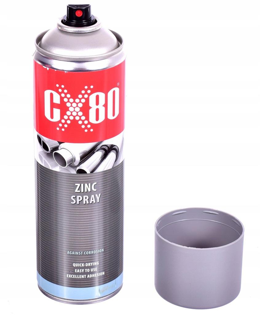 Cynk w sprayu CYNK SPRAY 500ml przed korozją CX80