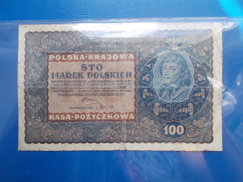 100 MAREK POLSKICH-1919-IH Serja O
