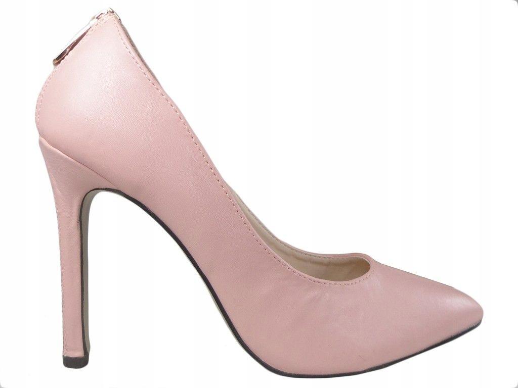 Jasno różowe pink buty szpilki z ekspresem 36