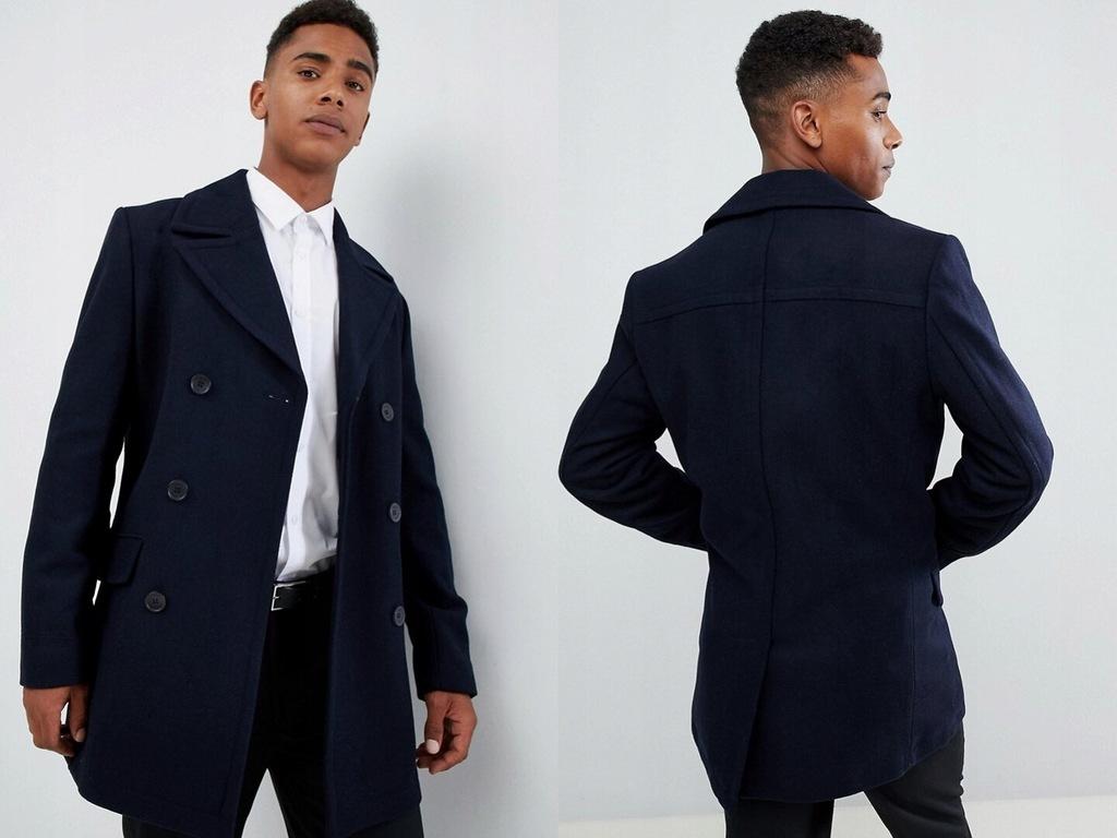 French Connection Dwurzędowy płaszcz męski M