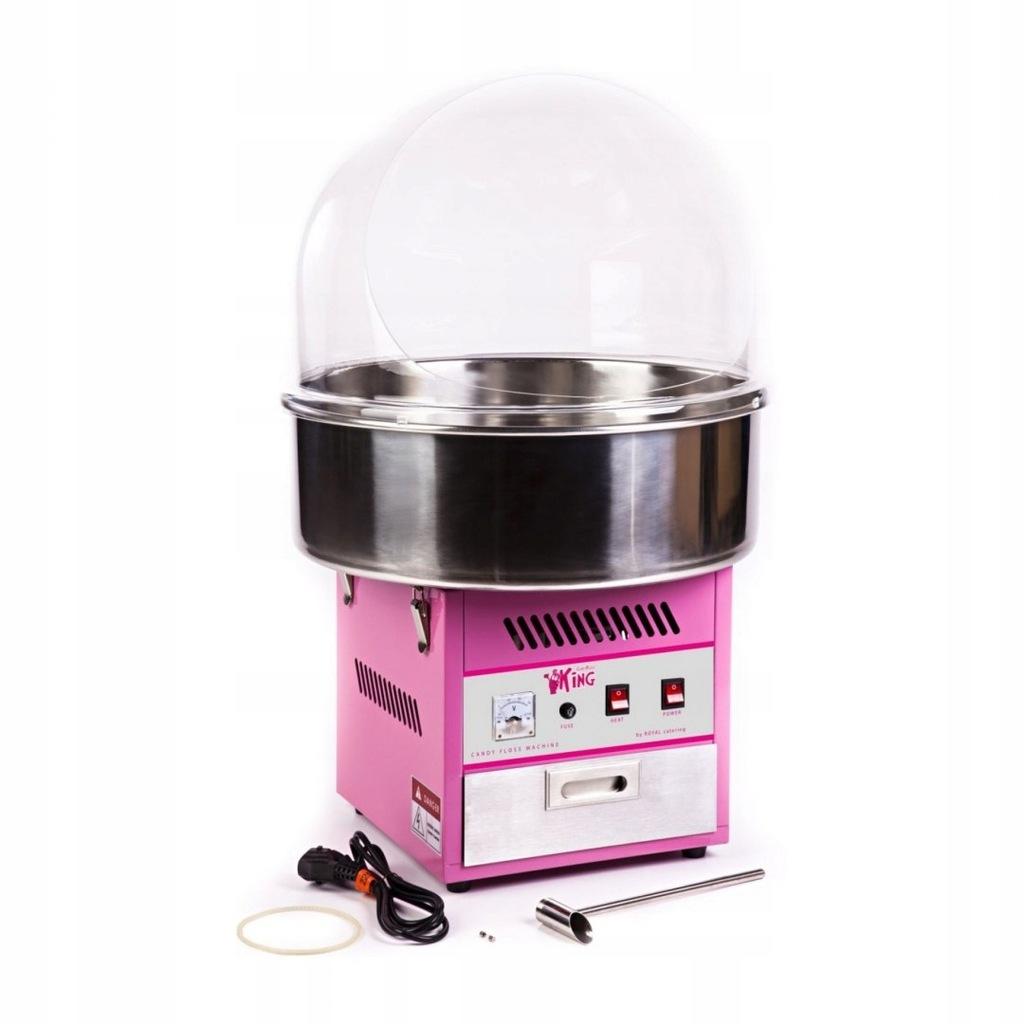Maszyna do waty cukrowej z pokrywą ochronną 52cm