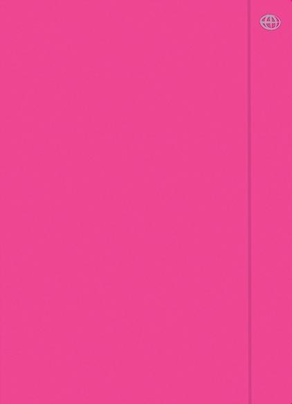 Teczka z gumką A4+ Fluo różowa (10szt)
