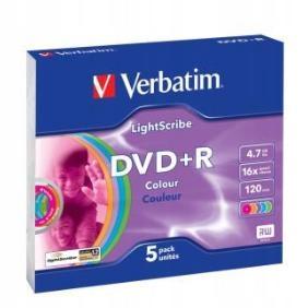 Płyta DVD+R Verbatim 4,7GB x16 Slim Color