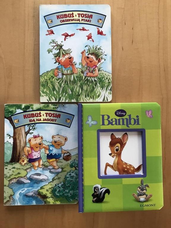 """Zestaw 3 książeczek (Bambi oraz """"Kubuś i Tosia"""")"""