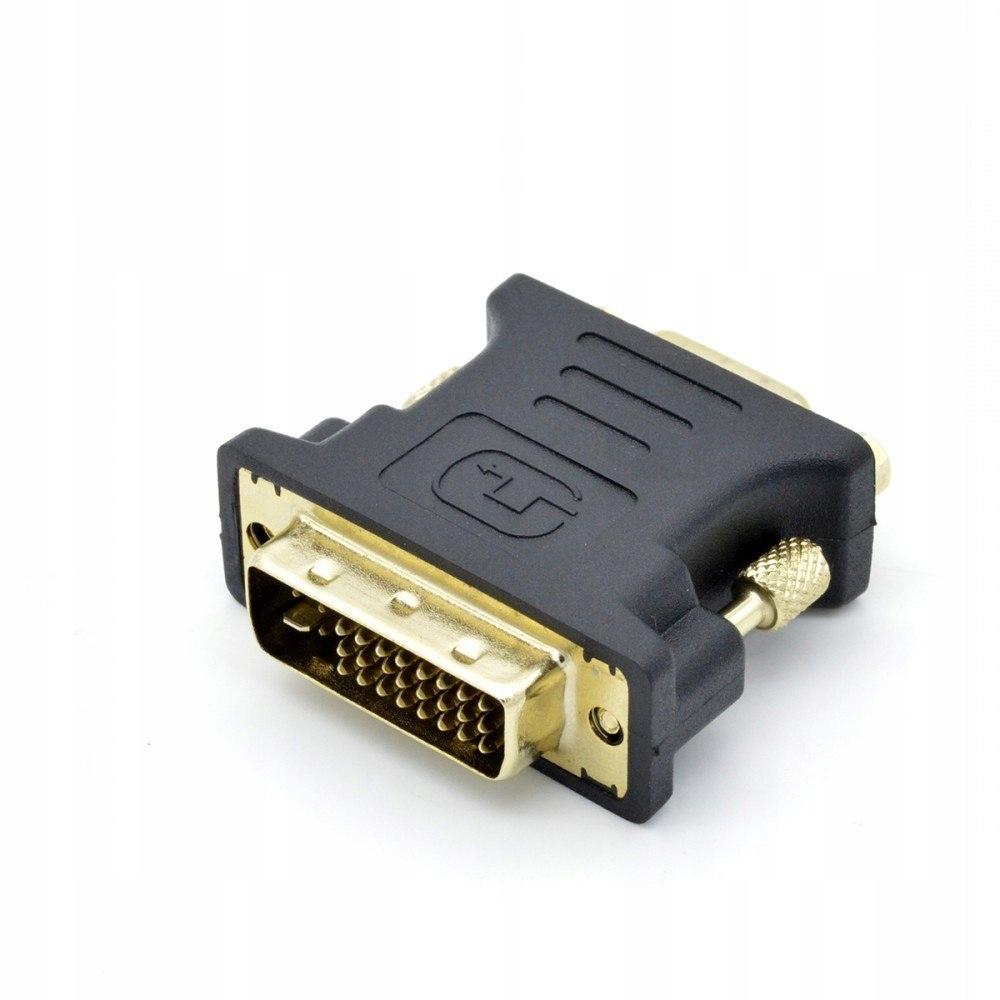 Adapter DVI M - VGA F pozłacany, 24+5/15 pin