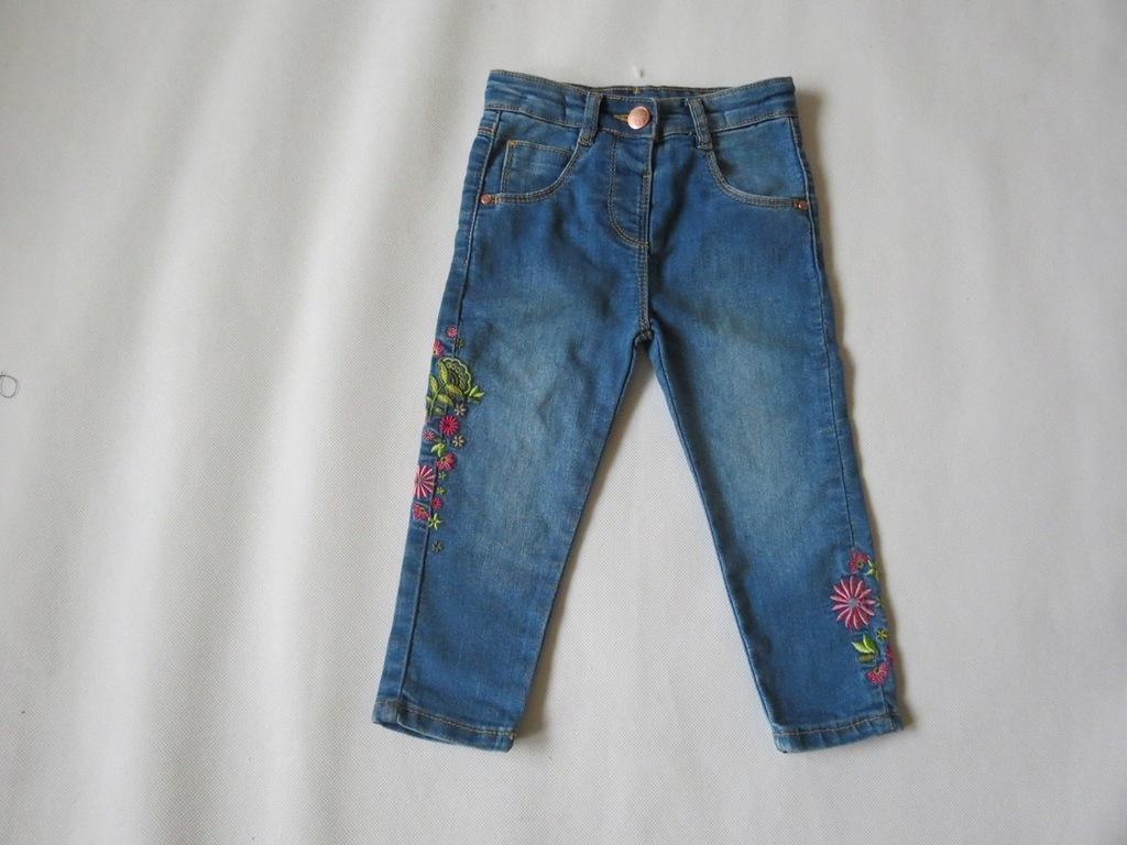 Super jeansowe rurki - 92 cm, 18-24 m-c.