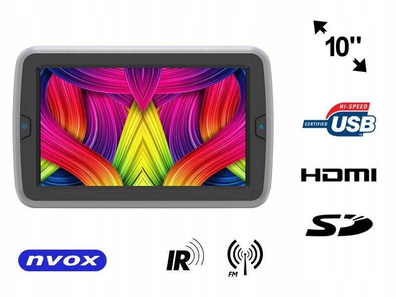 Monitor samochodowy zagłówkowy LED 10cali HD z