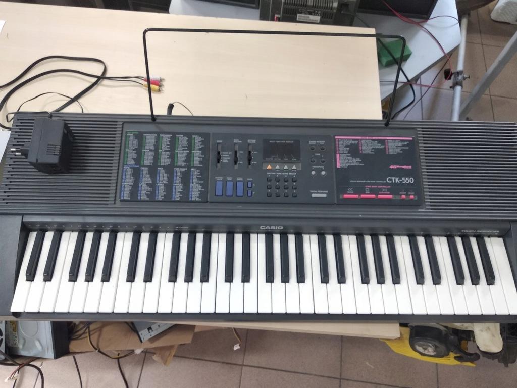 Casio CTK-550 Okazja Keyboard Klawisze Zasilacz