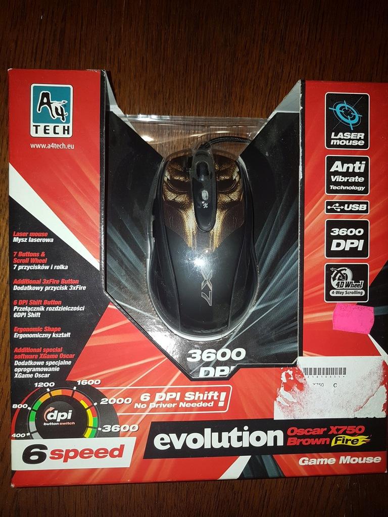 Mysz A4Tech XGame Laser Oscar X750 Brown