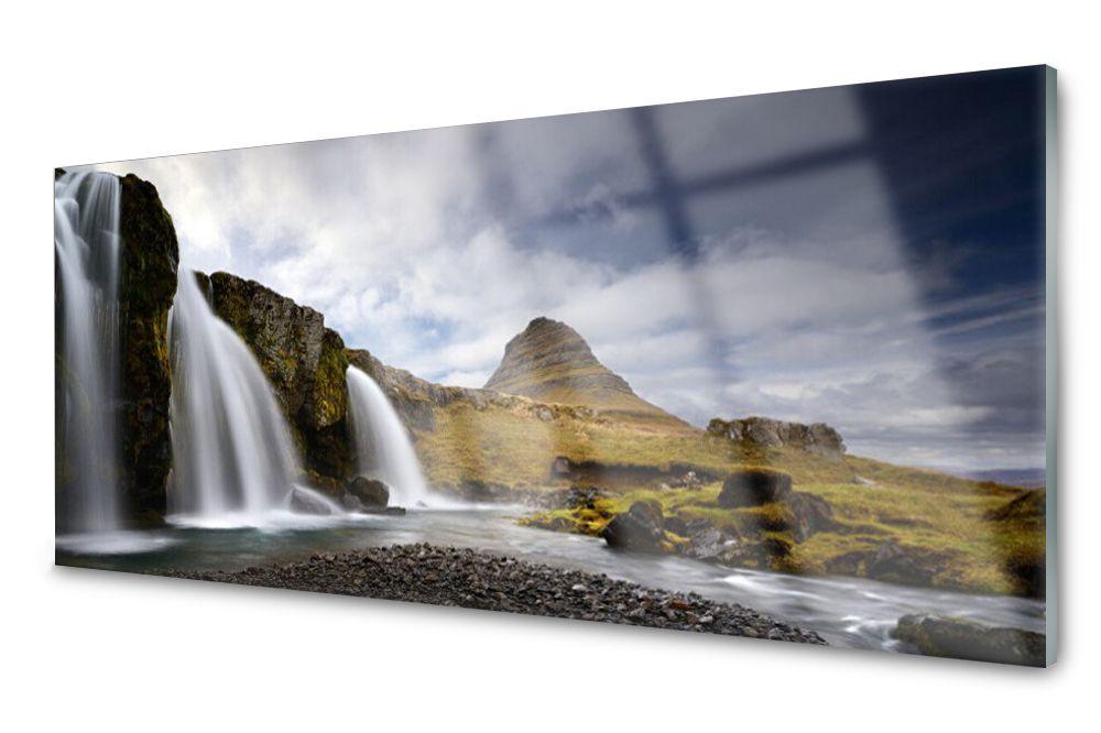 Lacobel Panel Szklany Ścienny Wodospad Góry 120x60