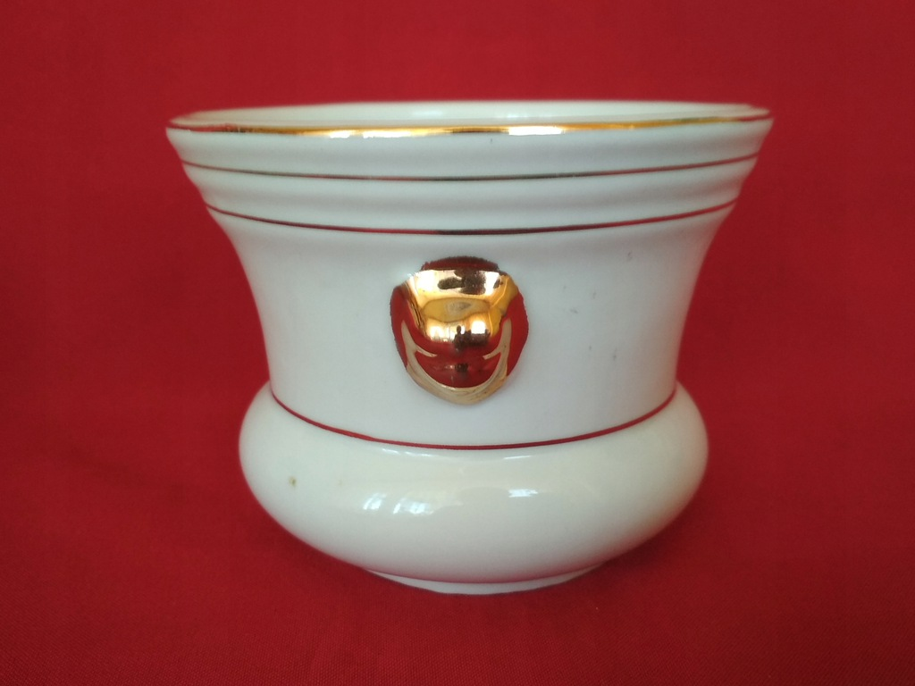 Doniczka porcelanowa złote lwy 20-6