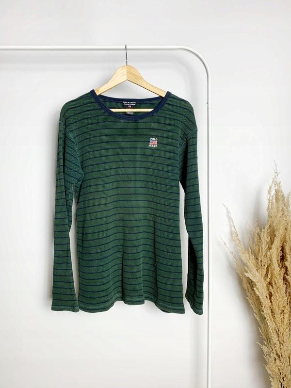 sweter vintage zielony Polo Jeans Ralph Lauren