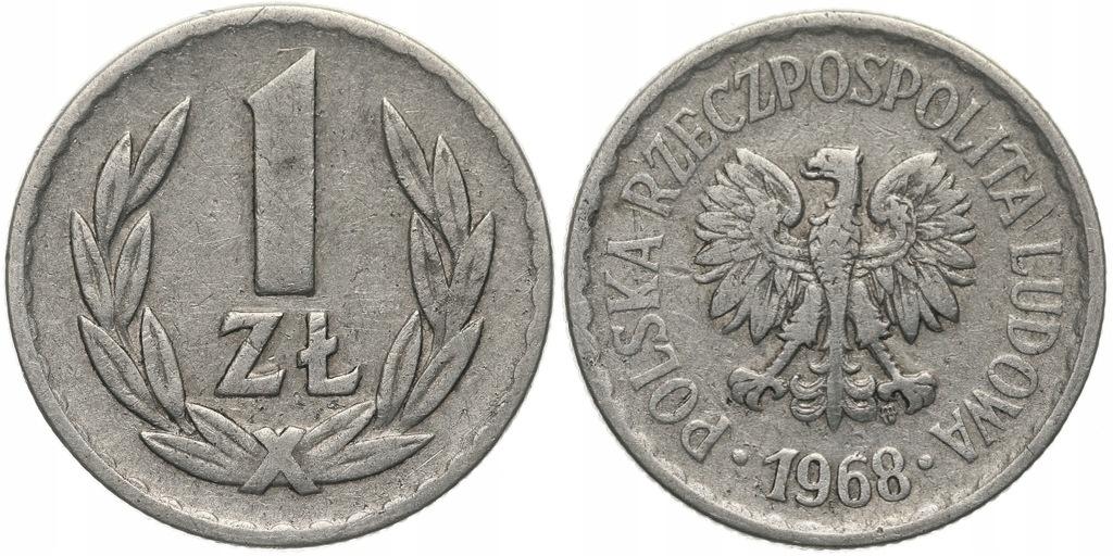 236.Polska - PRL - 1 złoty - 1968 - St.3- #A