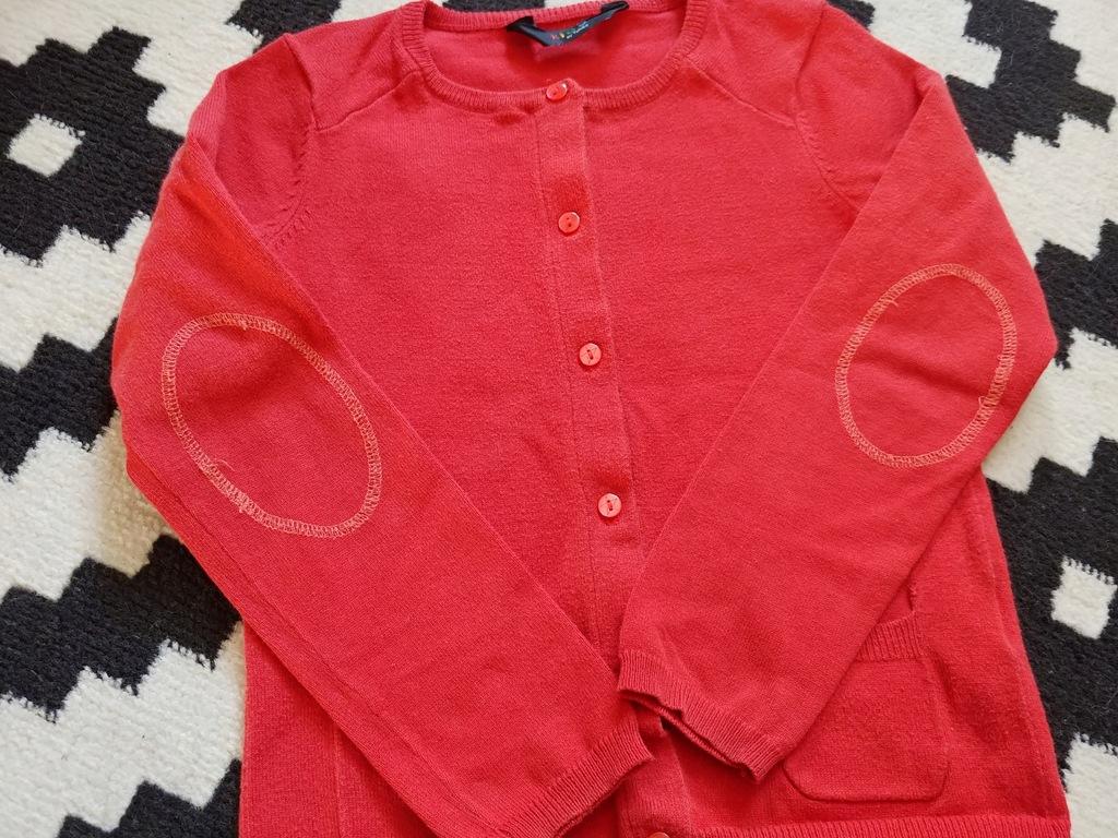 TCHIBO czerwony sweterek 110-116cm bdb