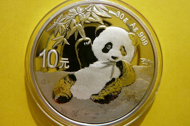 10 YUAN CHINY 2020 PANDA WIELKA SREBRO 99 PROMOCJA