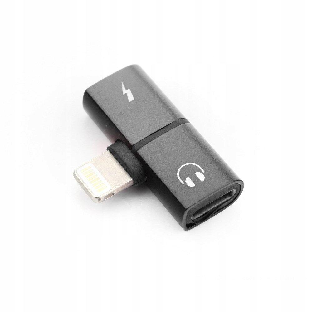Adapter HF/audio Iphone Lightning ładowanie SHORT