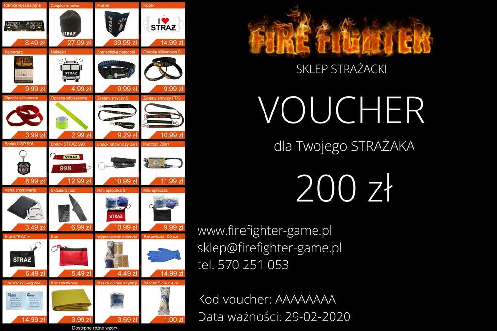 Voucher 200 zł Sklep STRAŻACKI FIREFIGHTER