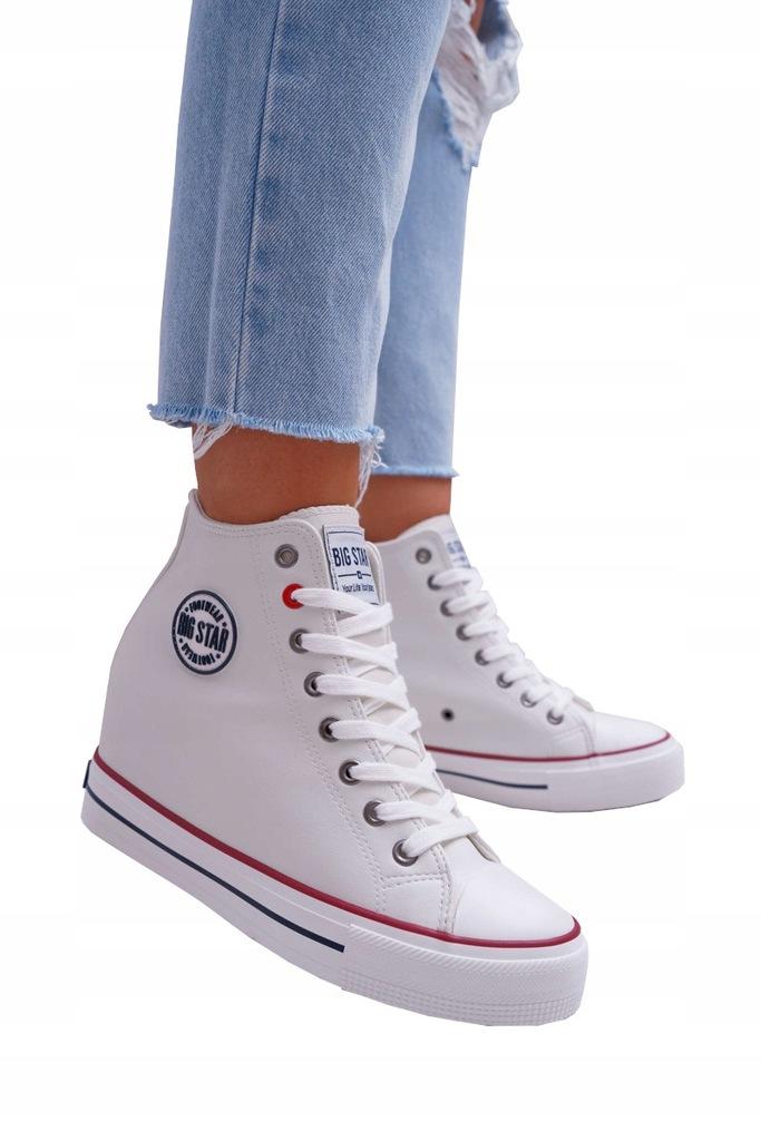 Sneakersy Damskie Big Star Białe EE274616 (40)