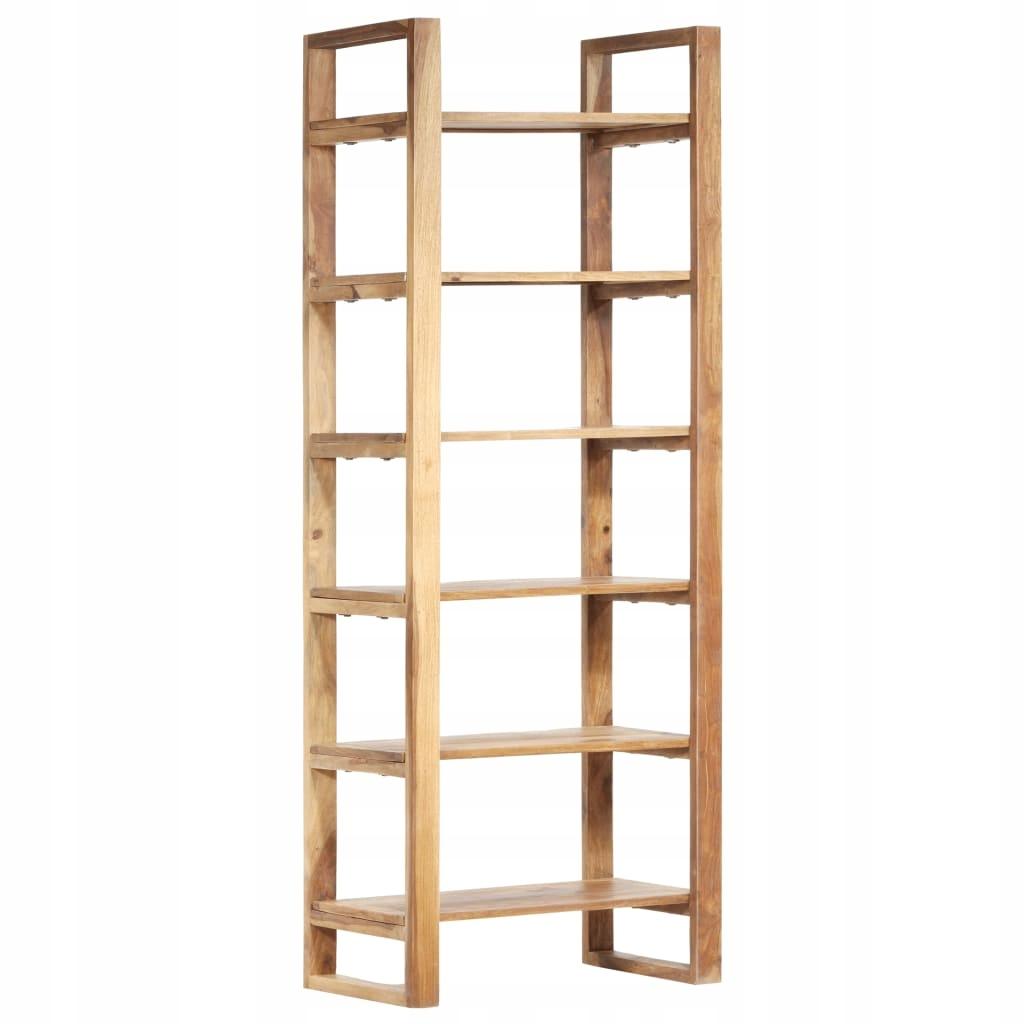Regał na książki, 60x38x160 cm, lite drewno sheesh