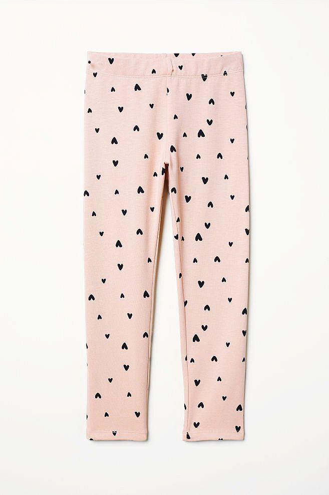 NOWE H&M legginsy grubsze SERDUSZKA różowe 128