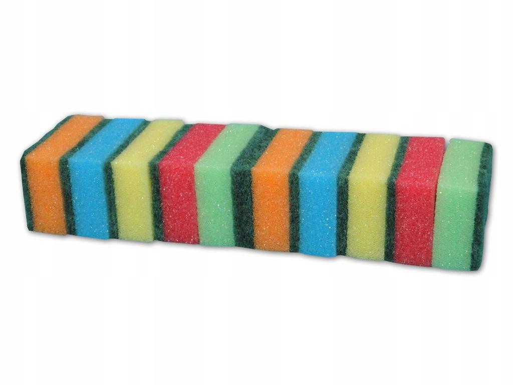 ZESTAW zmywaki gąbki do mycia naczyń MYJKA 10szt