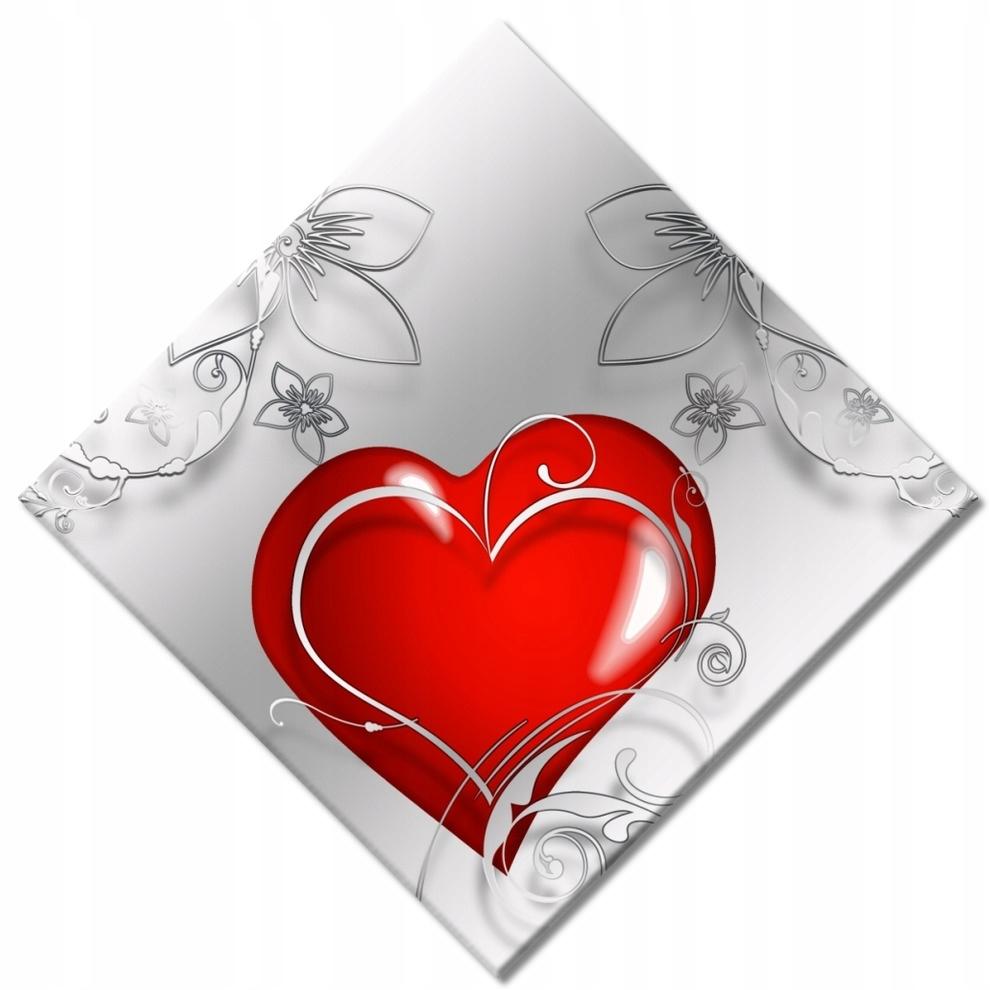 Obrazy 42x42 Miłość jest czerwona