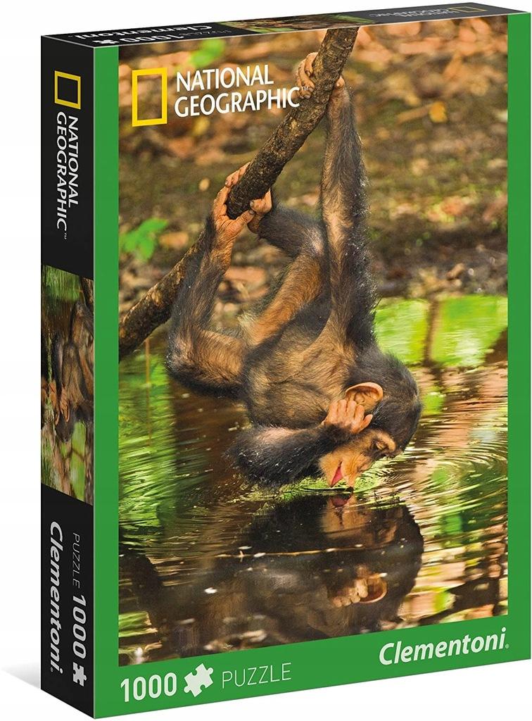 Puzzle 1000 National Geographic Szympans 39301