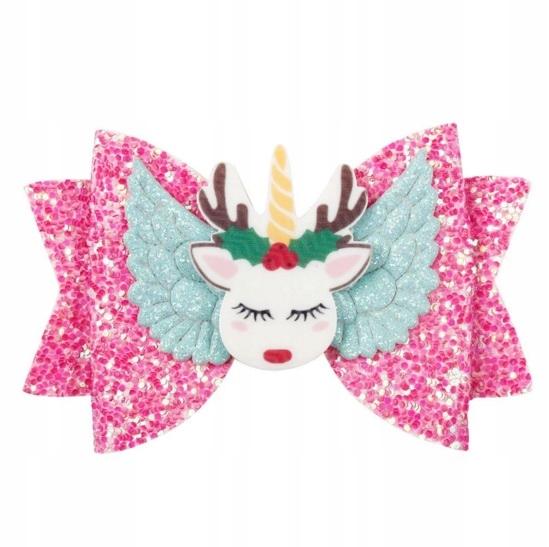 OPASKA Dziecko Jednorożec Bow-knot Glitter Łoś