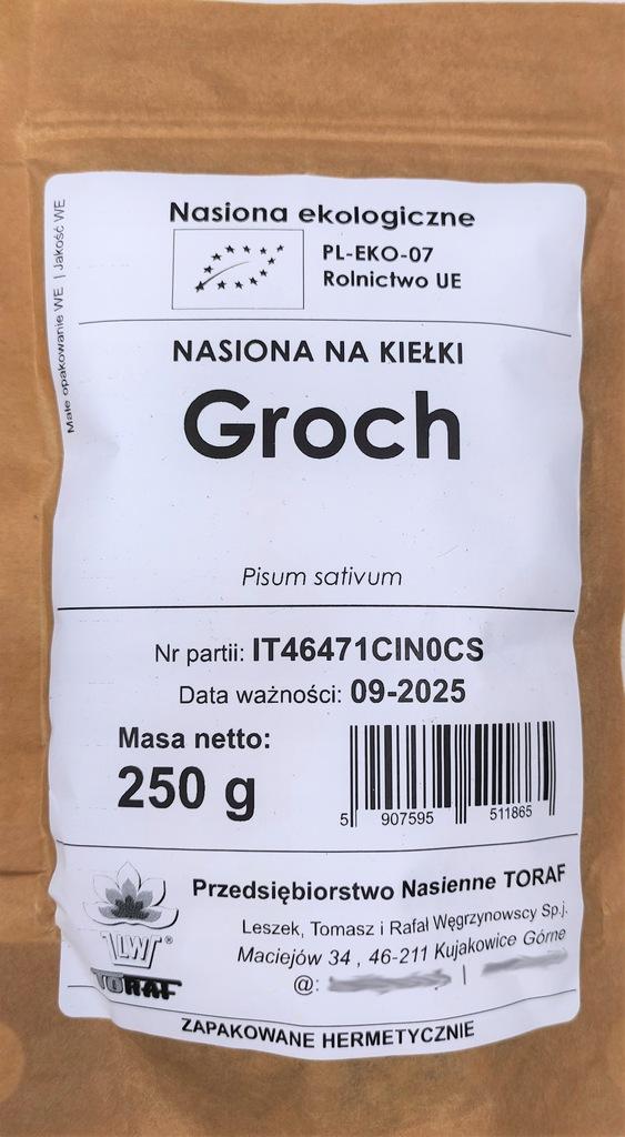 GROCH nasiona na kiełki EKOLOGICZNE BIO 250g